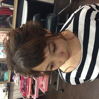 編み込みヘア ナチュラル ヘアアレンジ 結婚式 ヘアスタイルや髪型の写真・画像