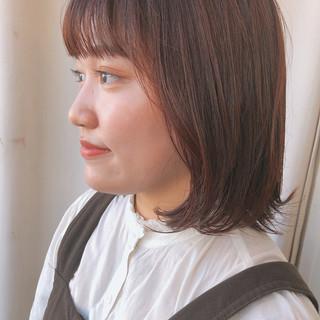デジタルパーマ ナチュラル ミディアム ミディアムヘアー ヘアスタイルや髪型の写真・画像