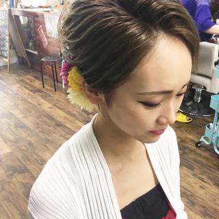 女子力 成人式 ミディアム エレガント ヘアスタイルや髪型の写真・画像 ヘアスタイルや髪型の写真・画像