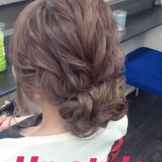 アップスタイル 二次会 結婚式 ロング ヘアスタイルや髪型の写真・画像