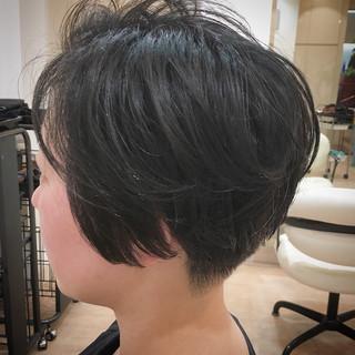 ショートボブ ショート ショートヘア 刈り上げ ヘアスタイルや髪型の写真・画像