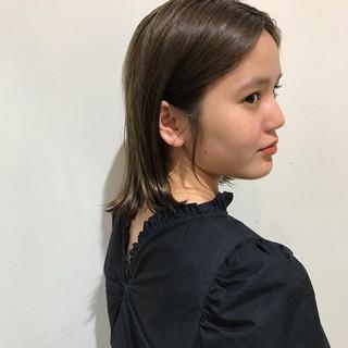 ヌーディーベージュ ボブ ナチュラル ブリーチカラー ヘアスタイルや髪型の写真・画像