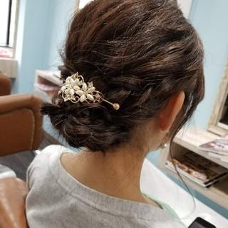 エレガント お呼ばれ 結婚式 二次会 ヘアスタイルや髪型の写真・画像
