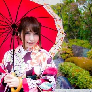袴 ロング 謝恩会 ヘアアレンジ ヘアスタイルや髪型の写真・画像