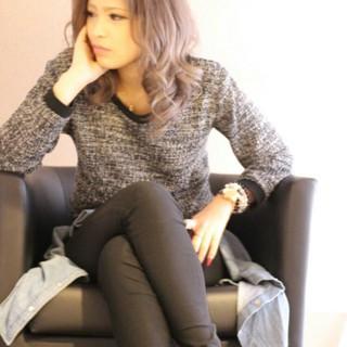 セミロング モテ髪 外国人風 透明感 ヘアスタイルや髪型の写真・画像