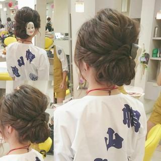 セミロング お祭り 夏 ヘアアレンジ ヘアスタイルや髪型の写真・画像 ヘアスタイルや髪型の写真・画像
