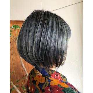 ボブ グレージュ モード ショートボブ ヘアスタイルや髪型の写真・画像 ヘアスタイルや髪型の写真・画像