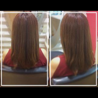 ロング 髪質改善カラー 艶髪 ナチュラル ヘアスタイルや髪型の写真・画像