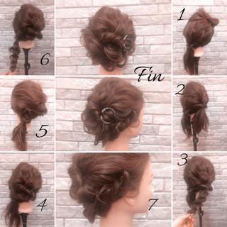 ミディアム ブライダル 結婚式 デート ヘアスタイルや髪型の写真・画像