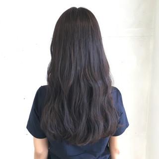 アッシュベージュ ゆるふわ 暗髪 ナチュラル ヘアスタイルや髪型の写真・画像