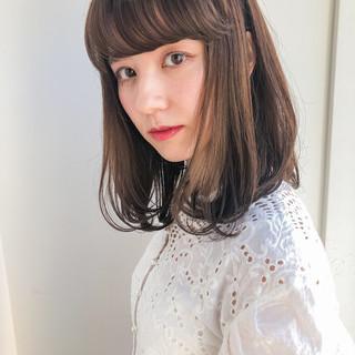 ロブ 韓国ヘア ミディアム タンバルモリ ヘアスタイルや髪型の写真・画像 ヘアスタイルや髪型の写真・画像