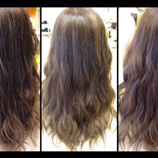 ハイライト 外国人風カラー グレージュ ナチュラル ヘアスタイルや髪型の写真・画像