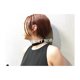 フェミニン ショート エフォートレス ピンク ヘアスタイルや髪型の写真・画像