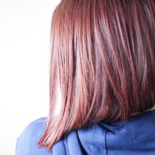 ラベンダーピンク ラベンダー モーブ ボブ ヘアスタイルや髪型の写真・画像