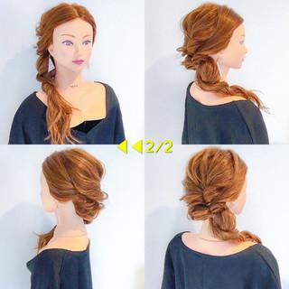 オフィス 簡単ヘアアレンジ ロング ヘアアレンジ ヘアスタイルや髪型の写真・画像 ヘアスタイルや髪型の写真・画像
