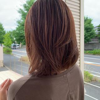 ナチュラル ブランジュ ミディアム ハイライト ヘアスタイルや髪型の写真・画像