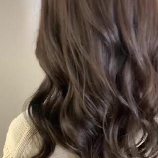 ベージュ モテ髪 ナチュラル ロング ヘアスタイルや髪型の写真・画像