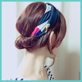 ヘアアレンジ ヘアアクセ ゆるふわ 大人かわいい ヘアスタイルや髪型の写真・画像