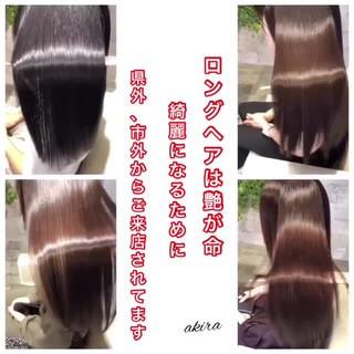 大人女子 美髪 トリートメント ロング ヘアスタイルや髪型の写真・画像