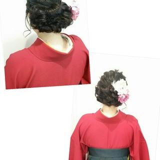 謝恩会 学校 ヘアアレンジ ミディアム ヘアスタイルや髪型の写真・画像