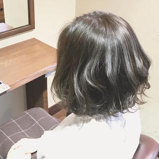ボブ ミルクティー ハイライト 大人女子 ヘアスタイルや髪型の写真・画像