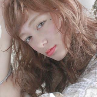 ミディアム ゆるふわ 女子会 アンニュイ ヘアスタイルや髪型の写真・画像