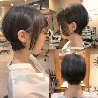 デート ナチュラル 黒髪 ショート ヘアスタイルや髪型の写真・画像