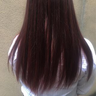 春 ストリート パープル ピンク ヘアスタイルや髪型の写真・画像