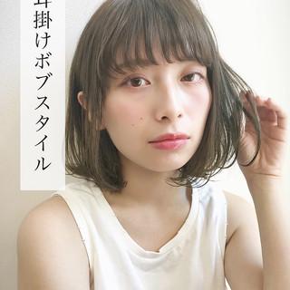 ミディアム 女子力 ヘアアレンジ ナチュラル ヘアスタイルや髪型の写真・画像