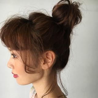 秋 ミディアム 女子会 透明感 ヘアスタイルや髪型の写真・画像