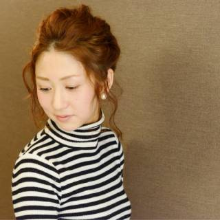 ルーズ ツイスト ヘアアレンジ ショート ヘアスタイルや髪型の写真・画像