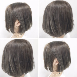 簡単ヘアアレンジ グラデーションカラー ショート ストリート ヘアスタイルや髪型の写真・画像