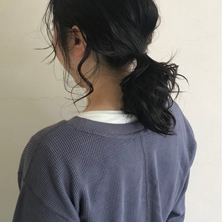 ヘアアレンジ セミロング 簡単ヘアアレンジ 大人女子 ヘアスタイルや髪型の写真・画像
