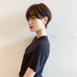 デート モード ショート 黒髪 ヘアスタイルや髪型の写真・画像