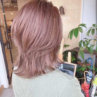 ミディアム グラデーションカラー ブルー ナチュラル ヘアスタイルや髪型の写真・画像