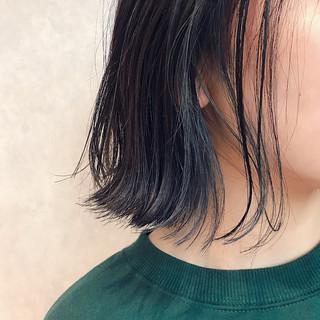 スポーツ ボブ ヘアアレンジ インナーカラー ヘアスタイルや髪型の写真・画像
