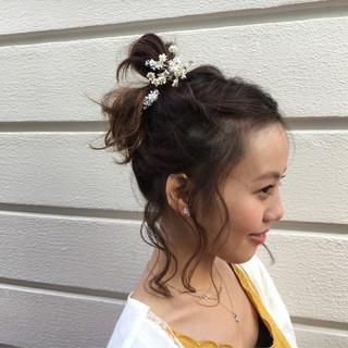 ショート ヘアアレンジ ルーズ フェミニン ヘアスタイルや髪型の写真・画像 ヘアスタイルや髪型の写真・画像