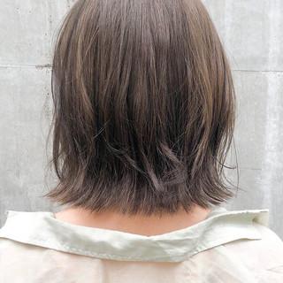ベージュカラー インナーカラー ナチュラル ボブ ヘアスタイルや髪型の写真・画像