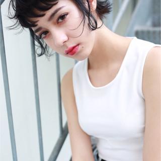 ストリート ショートボブ ショート ラフ ヘアスタイルや髪型の写真・画像