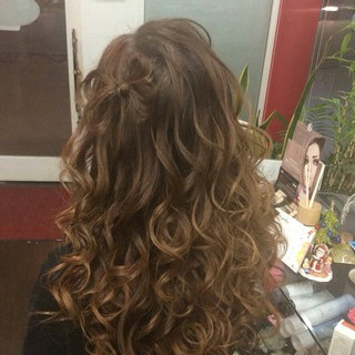 ナチュラル ロング ヘアアレンジ 巻き髪 ヘアスタイルや髪型の写真・画像