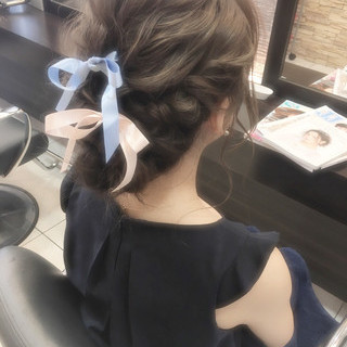 外国人風 大人女子 イルミナカラー ヘアアレンジ ヘアスタイルや髪型の写真・画像