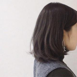 ボブ ニュアンス アッシュ グレージュ ヘアスタイルや髪型の写真・画像