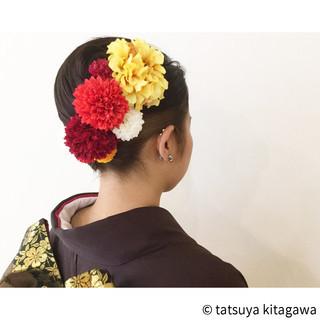 ハイライト セミロング 成人式 袴 ヘアスタイルや髪型の写真・画像 ヘアスタイルや髪型の写真・画像