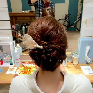 ゆるふわ ねじり ミディアム 編み込み ヘアスタイルや髪型の写真・画像 ヘアスタイルや髪型の写真・画像