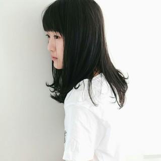 黒髪 セミロング 女子会 ナチュラル ヘアスタイルや髪型の写真・画像 ヘアスタイルや髪型の写真・画像