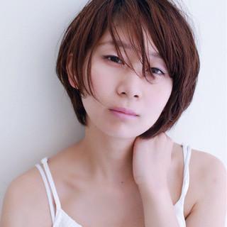 うざバング ショート ナチュラル 小顔 ヘアスタイルや髪型の写真・画像 ヘアスタイルや髪型の写真・画像