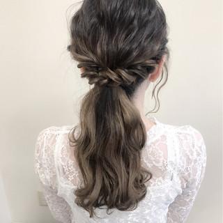 ロング フェミニン デート 外国人風 ヘアスタイルや髪型の写真・画像
