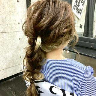 卒業式 エレガント 結婚式 編みおろし ヘアスタイルや髪型の写真・画像