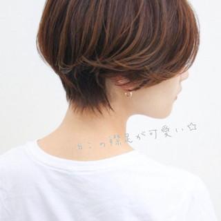 ミニボブ ナチュラル ショートボブ 小顔ヘア ヘアスタイルや髪型の写真・画像