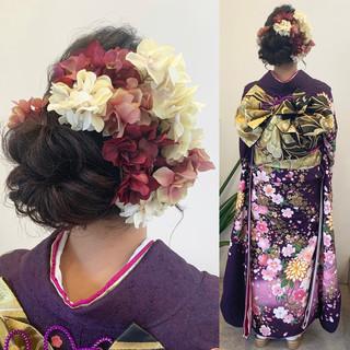 結婚式 エレガント 成人式 アンニュイほつれヘア ヘアスタイルや髪型の写真・画像